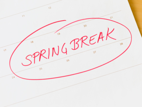 Spring Break 2012 Dates 2012 Spring Break Schedule For