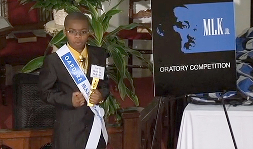 Last year's Gardere MLK Jr. Oratory Competition winner Mattias McBride.